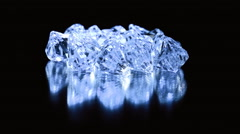Diamonds shiny glares blue Stock Footage