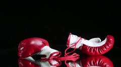 Boxing gloves rotation Stock Footage
