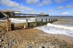 Cromer Pier in North Norfolk England - stock photo
