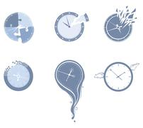 Lost time icon set. Stock Illustration
