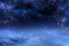 Nightly sky, space background Stock Illustration