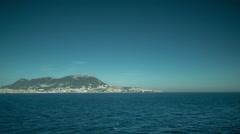 Ferry sea ocean mediterranean gibraltar water travel Stock Footage