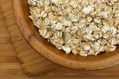 Oatmeal in a bowl - stock photo