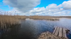 Braslaw lake Dryaviaty - stock footage