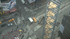 NYC Times Square From Above Stock Footage