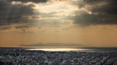 Cityscape at sunset Stock Footage