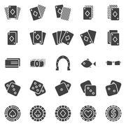 Poker icons vector set Stock Illustration