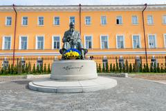 Stock Photo of Memorial statue of Mykhailo Hrushevsky, an important Ukranian statesman