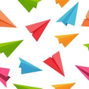 Stock Illustration of Airplane Seamless Pattern Background Vector Illustration