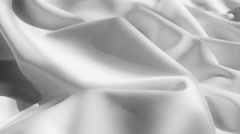 Drapery white fabric background Stock Footage