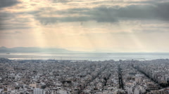 Aerial view of Athens 02 Stock Footage