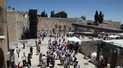 Western Wall. Stock Footage