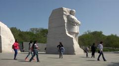 Martin Luther King Memorial tourists Washington DC 4K 006 Stock Footage
