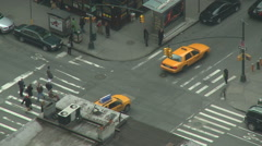 Intersection & Crosswalk in NYC - stock footage