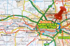 Street Map of Newcastle - stock photo