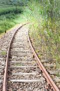 curve rail corner - stock photo