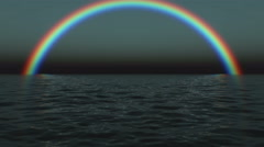 Sky background with rainbow . Arkistovideo