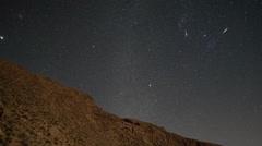 atlas mountains stars starlapse night sky astronomy - stock footage