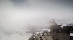 Matterhorn gornergrat alps switzerland mountains snow peaks ski timelapse Stock Footage