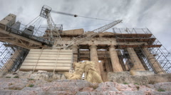 Parthenon HDR Stock Footage