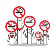 Stock Illustration of Family no smoking for hope you