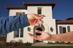 Handing Over the Keys - stock photo