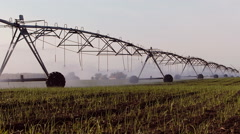 Field irrigation - stock footage