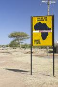 Famous signs when crossing the equator in Kenya. - stock photo