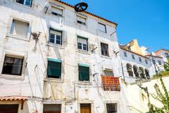 House in the Alfama district Stock Photos