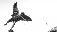 Eros Statue, Piccadilly Circus, London - stock footage