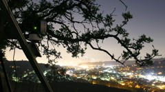 Stock Video Footage of Behind The Scene of 3axis Motion Control Time Lapse Rig at LA Hilltop -Tilt Up-