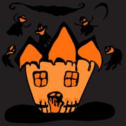 Haunted halloween  house Piirros