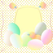 Happy easter cards illustration with easter eggs Stock Illustration