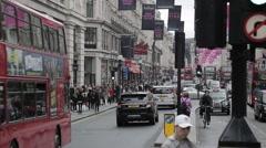 Regent Street, London. Day | HD 1080 Stock Footage