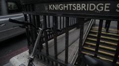 Knightsbridge Underground Station, London Stock Footage