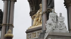 The Albert Memorial, Kensington Gardens, London. Day | HD 1080 Stock Footage