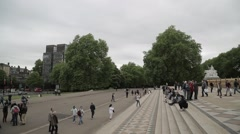 Outside the Albert Hall, London - stock footage