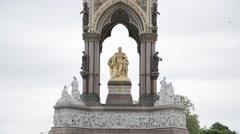 The Albert Memorial, Kensington Gardens, London. Day   HD 1080 - stock footage