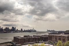 Timelaps cloudy view on Manhattan - stock footage