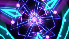 Psychedelic pink and blue wallpaper Stock Footage
