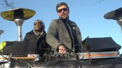 DJ at rave Stock Footage