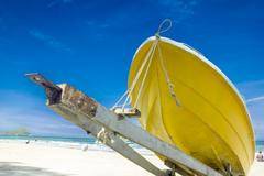 Boat ashore - stock photo
