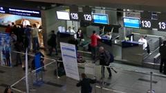 Departure lounge at Vnukovo International Airport.  Stock Footage