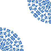 White background with blue pattern - stock illustration