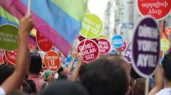 Gay pride or LGBT pride Footage Stock Footage