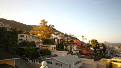 Stock Video Footage of 4K Motion Control Time Lapse of Avalon at Sunset in Catalina Island