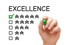 Excellence Rating Concept Stock Photos