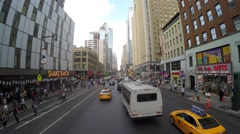 Transportation in Lower Manhattan Stock Footage
