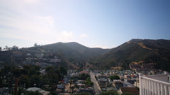 Stock Video Footage of Motion Control Time Lapse of Cloudscape over Avalon in Catalina Island -Zoom In-