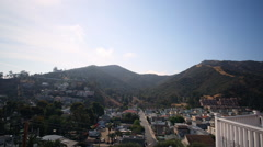 Motion Control Time Lapse of Cloudscape over Avalon in Catalina Island Stock Footage